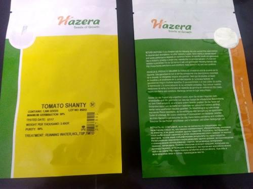 Semillas de tomate shanty marca hazera de 1000 semillas