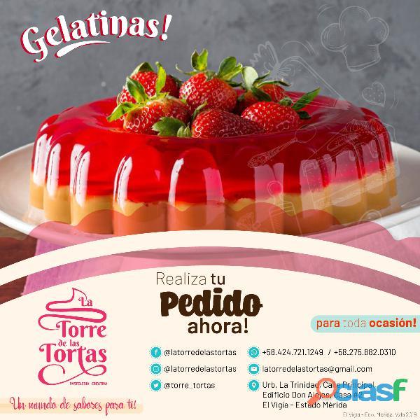 Ventas por encargo de gelatortas / gelatinas en el vigia