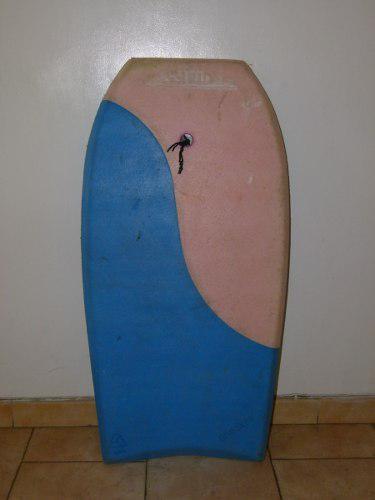 Tabla corta de surf azul y rosado 105x50