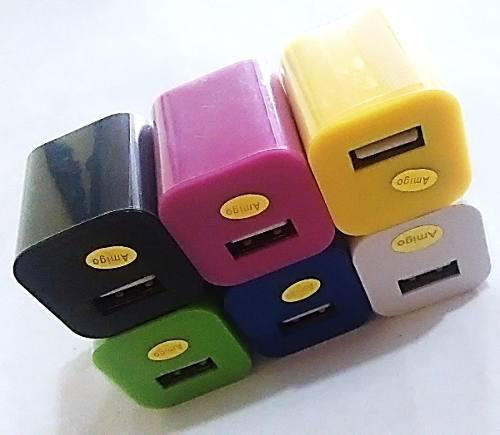 Taco cargador usb 1amp celulares mp3 somos tienda