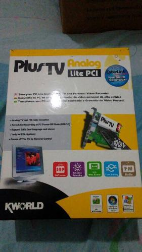 Capturadora de video y tv plus tv analog pci kworld