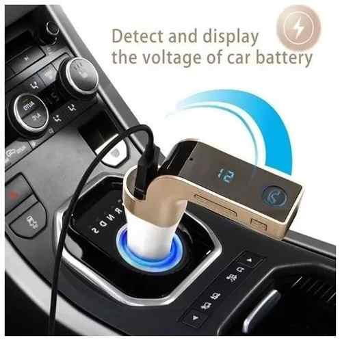 Adaptador transmisor reproductor carro bluetooth mp3 fm usb