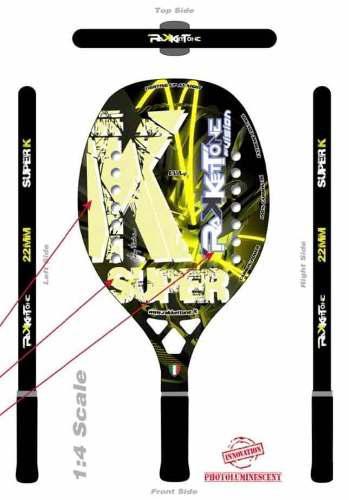 Raqueta De Beach Tennis Rakkettone Super 2019