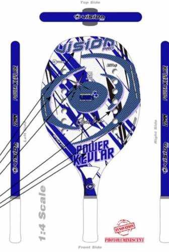 Raqueta De Beach Tennis Vision Power Kevlar 2019