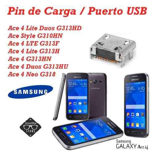 2 pin de carga samsung ace4 g313 s6810 galaxy fame/ g130e g