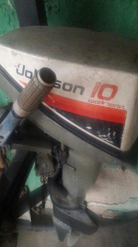 Motor fuera borda jhonson 12hp 450 green verde a toda prueba
