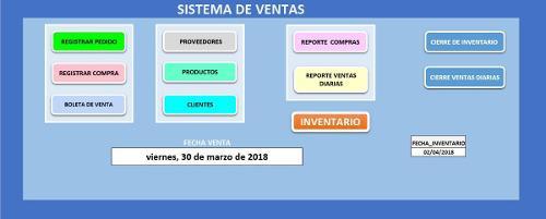 Sistema de ventas e inventario en excel+gestor de inventari