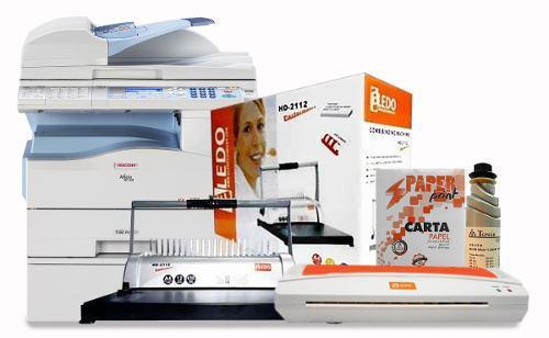 Combo fotocopiadora encuadernadora plastificadora toner