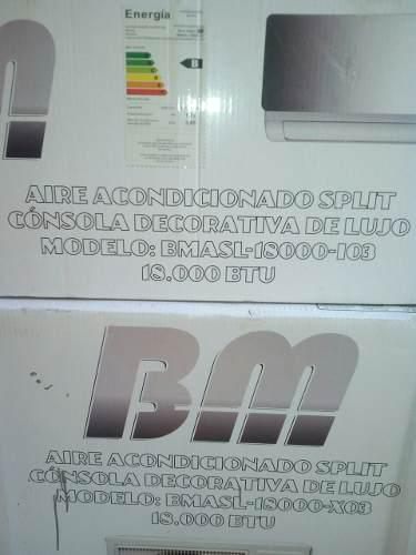 Aire acondicionado split 18000 btu consola d espejo marca bm