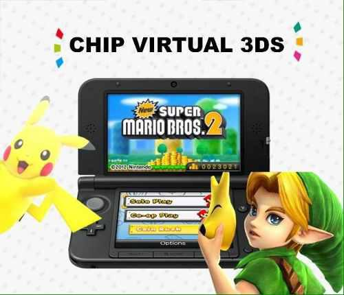 Chip virtual nintendo 2ds 3ds 3ds xl + 6 sorpresas