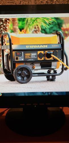 Planta eléctrica firman 4550 w con ruedas entrega inmediata