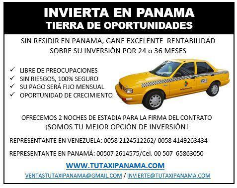 Compre un taxi invierta con tu taxi panama