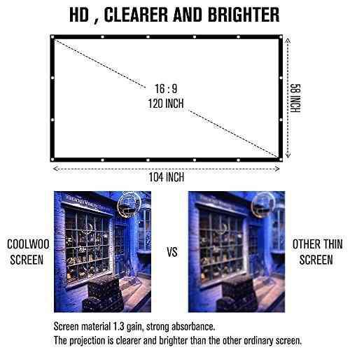 Computacion coolwoo pantalla proyector 16:9 hd amz