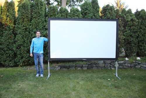 Computacion proyector pantalla para exterior visual amz