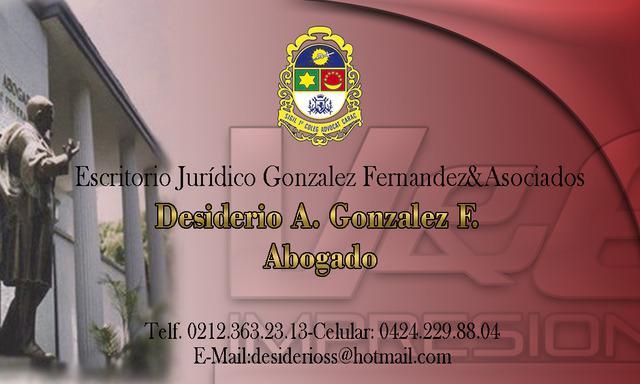 Escritorio jurídico gonzález fernández & asociados