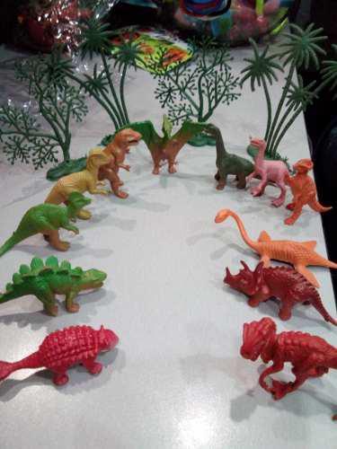 Juguete dinosaurios niños set 16 piezas 5cm, detal y mayor