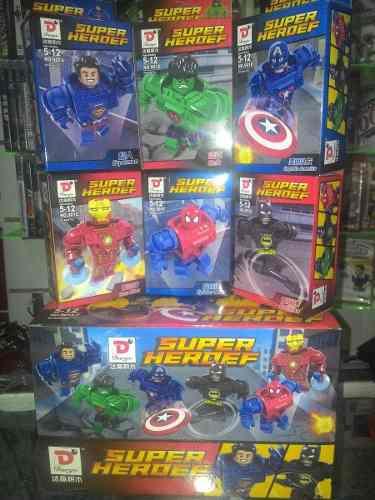 Lego super heroers batman, hulk, thor, superman otros