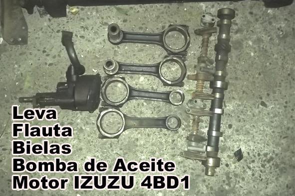 Leva, Flauta, Bielas y Bomba de aceite para motor IZUZU 4BD1