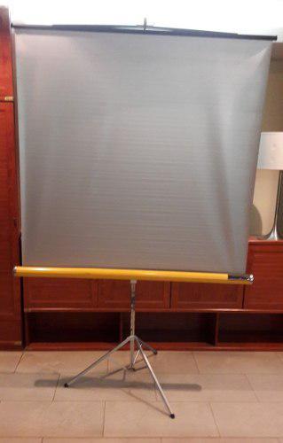 Pantalla plateada lenticular para proyector frontal 45 x 45