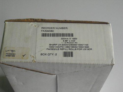 Película fax sharp 220mm.x135mts. (unidad)