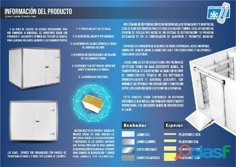 Fabrica de cavas cuarto refrigeracion y congelacion