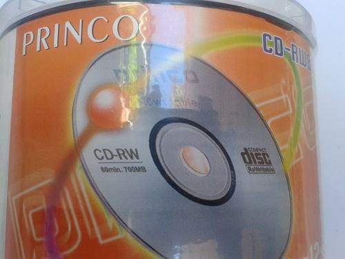 Cd princo rw regrabable 4x-12x 80min/700mb torre de 50discos