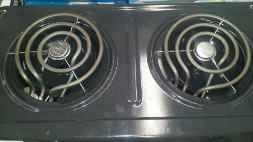 Cocina eléctrica 2 hornillas gris marca haceb nueva.