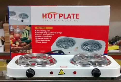 Cocina eléctrica de 2 hornillas garantizadas
