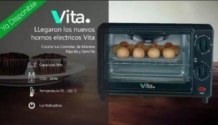 Horno eléctrico tostador vita rostizador toaster oven pj-12