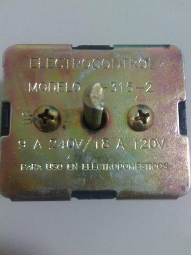 Switch calentador cocinas 3 calores 110v