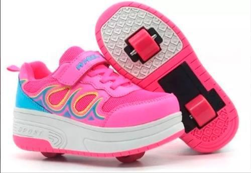 Zapato patin patines rollershoes rueda ruedita niña