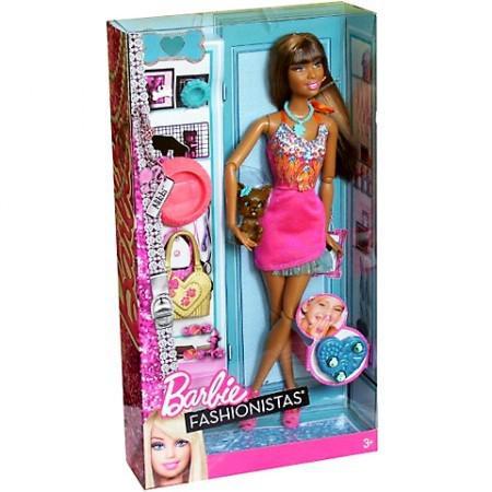 Barbie fashionista nikki con su mascota