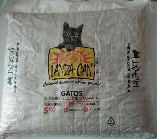 Gatarina lanza can para gato alimento **saco de 5kg.**