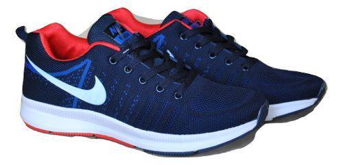 Kp3 zapatos caballeros nike air zoom mod 2 azul rojo
