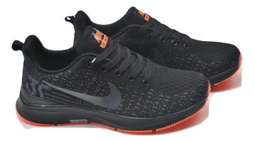 Kp3 zapatos caballeros nike air zoom pegasus negro naranja