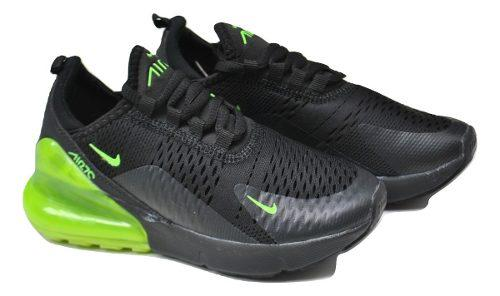 e1f999fdcf Kp3 zapatos niños niñas nike air max 270 negro / verde