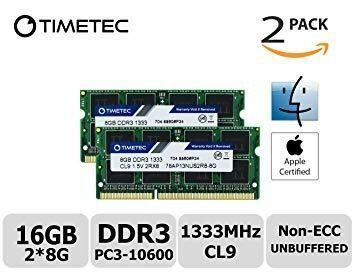 Memoria ram ddr3 1066 kit 16gb apple imac mac mini macbook