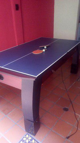 Mesa de pool, hockey y tenis de mesa