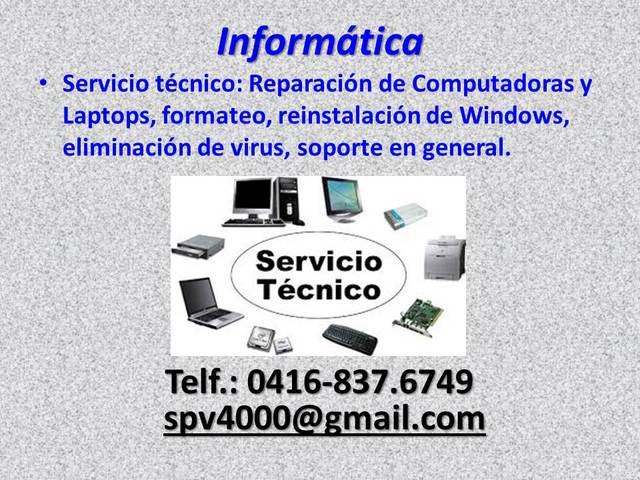 Reparaciones computadoras servicio técnico pc laptops