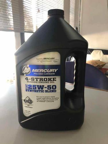 Se vende mercury. aceite para motor marino 25w-50 origina