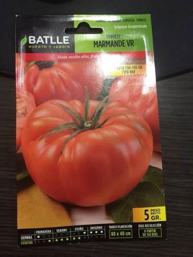 Semillas certificadas de tomates marcas batlle