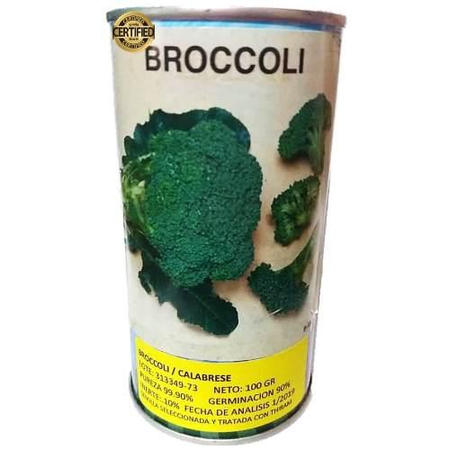 Semillas de brócoli certificadas lata de 100 gramos