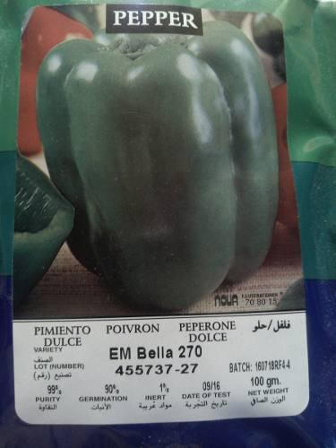 Semillas de pimenton hibrido emerald seeds