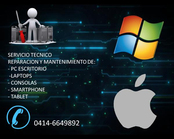 Servicio técnico pc laptops smartphone consolas nintendo