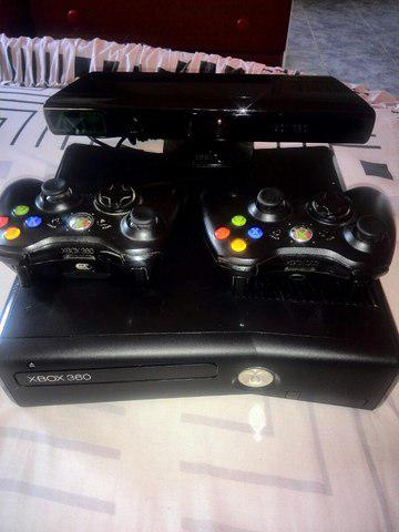 Xbox slim 4gb chip ltu 3.0 kinect +2 controles y juegos