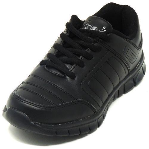 Zapatos deportivos escolares yoyo unisex 14151l negros 24-31
