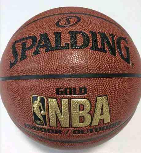 BALON PELOT SY BASKET SPALDING NBA GOLD N°7 SEMI CUERO CO, usado segunda mano  San Antonio del Táchira (Táchira)