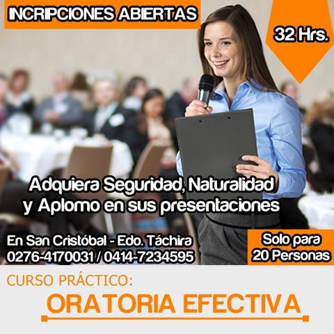 """Curso práctico: """"oratoria efectiva"""". dictado por gerencia"""