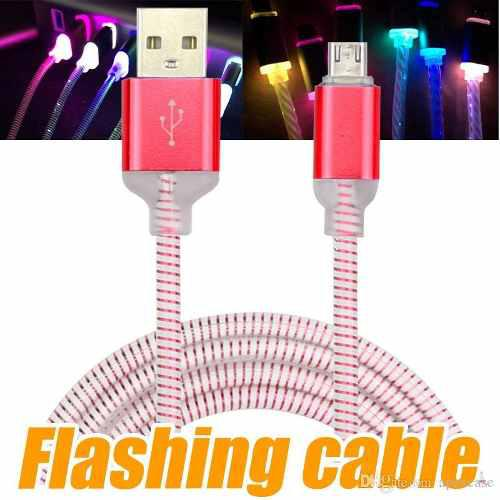 Cable carga rapida y datos v8 led mayor y detal