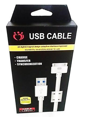 Cable iphone 4g 4s ipod certificado 1.5metros mayor y detal
